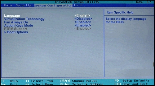 HP UEFI - Change boot order