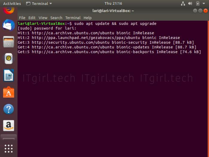 Ubuntu's Terminal