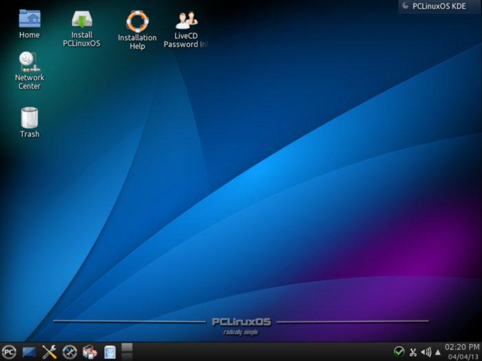 The PCLinuxOS desktop