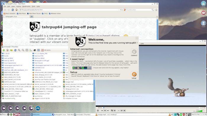 The Puppy Linux desktop