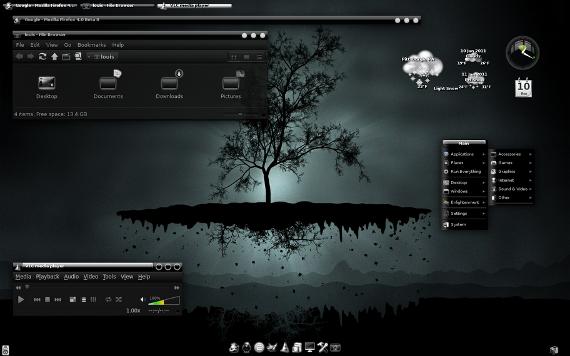 A screenshot of Bodhi Linux, a lightweight Linux distro