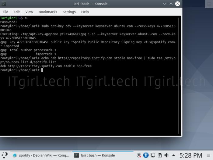 Adding a Debian repository.